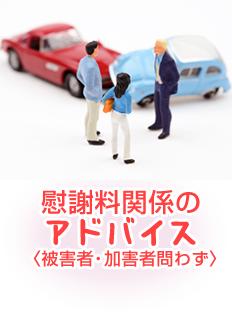 慰謝料関係のアドバイス(交通事故被害者・加害者問わず)